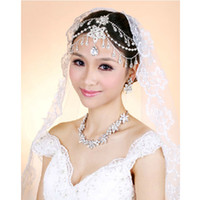 Wholesale Classic Crystal Rhinestone Frontlet Bridal Headbands Hair Jewelry Wedding Decoration CN125