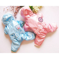 Cheap 2014 new Pet clothing wholesale winter design and high quality blue and pink legs light warm cotton-padded clothes Free shipping