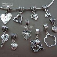 Wholesale 400pcs tibet Silver dangle beads charms Fit chamilia biagi Bracelet mix styles kk