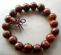 Wholesale Red Wood Beads Tibet Buddhist Prayer Bracelet Mala FO pc