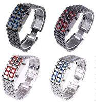 Unisex led lava watch - Mix colors NEW Metal Lava Style LED Iron Samurai Watch Men Women styles fashion classic watches LL004