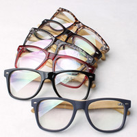 bamboo big - Wool bamboo big glasses fashion vintage radiation resistant Sunglasses computer goggles rivets plain mirror