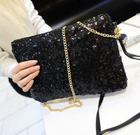 Wholesale 2014 New Fashion European Style Women Evening Bags Sequins Twinkle Shoulder Bags With Chain colors