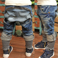 Cheap 5pcs lot new 2013 autumn boys girls jeans children denim long pants ZZ1527