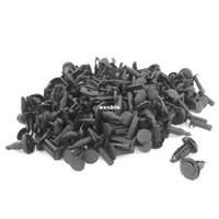 Wholesale 100 Push Fit Plastic Rivet Bumper Grills Fastener Clip Black