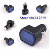 Wholesale 1pcs DC V V LED Display Cigarette Lighter Electric Voltage Meter tester For Auto Car Battery Drop Shipping