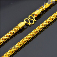 Wholesale Super deal New arrival fashion Jewelry vacuum plated K gold CM Men s necklace JXL0512