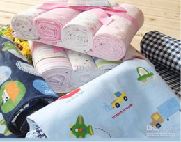 Wholesale 4 Pack Flannel Receiving Blankets sleeping bags baby blanket baby sleepers baby sleep sack baby sleeping bag grobag