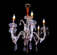 Wholesale gold morden chandeliers lamps glass crystal livingroom light pendant lights