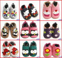 Wholesale 72 SRYLE Cheap Chinese soft soled shoes months really leather baby shoes Looper toddler shoes Toddler shoes pair LS