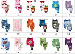 Wholesale Baby Long Sleeve Cotton Pajamas Children Sleepwear Kids Pajamas Many Designs