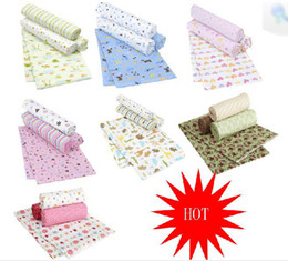 Wholesale 4 pack baby cotton flannel blankets Summer sleeping Sheets bags bed Blanket baby sleep sleeping receiving blankets sheet baby beding blanket