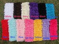 Wholesale Stain Ruffle Lace Plain colorGirls Toddler Solid colorLeg Warmers Girls Infant Toddler Lace Ruffle Legging