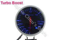 Wholesale 2 INCH MM Auto Defi Gauge Defi BF Gauge car meter TURBO BOOST Meter Blue and White Light