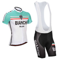 Wholesale New BIANCHI Cycling Jersey and Cycling Bib Shorts Kit Cycling Clothing Set Size S XXXL All in Stock