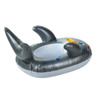 Wholesale 3 Friendly Shark Pool Ride On Kids Inflatable Swimming Toy Kiddie Float Raft Drop Shipping