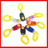 Wholesale 20pcs High Quality Colours Mini Dog Pet Click Clicker Training Trainer Aid Guide