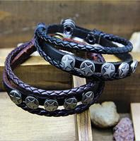 Wholesale Min order Great Seller Leather wrap Bracelets Mix Order leather bracelet men Fast Despatch