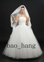 Cheap Two-Layer Wedding Dress Best Cathedral Length Lace Applique Edge Net Tulle Bridal Veils