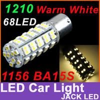 Wholesale 1156 BA15S SMD LED Warm White light car Turn Tail Brake Stop Light Bulb Lamp