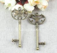 antique key - A1030 MM ANTIQUE BRONZE ZINC ALLOY Key charm DIY ZAKKA retro jewelry accessories antique bronze charms alloy metal pendant