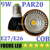 Wholesale New Arrival PAR20 Led Spotlights COB W E27 E26 GU10 Led Lights Bulb Warm Pure Cool White V Dimmable