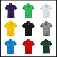 Cheap The new wholesale men's critical section 10 color M - L - XL XXL size lapels, short sleeve polo t-shirts
