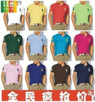 Men Cotton Polo Detonation model of cotton color L - XL XXL size 16 collar short sleeve T-shirt, new men POLO shirt, T-shirt