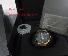 Wholesale With Original Box Papers Luxury Brand Big Bang k Rose Gold Ceramic Swiss Eta Automatic Chronograph Working Mens Watch Men s Watches