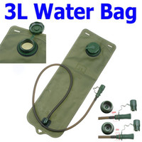 Wholesale 3L Bicycle Mouth Water Bladder Bag Hydration Camping Hiking Climbing Military Green