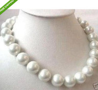 Mers du sud Prix-16mm AAA Blanc Sea Shell sud de collier de perles 18 pouces + Livraison gratuite