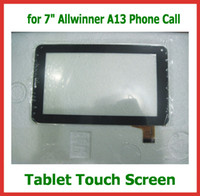 Wholesale Replacement inch Capacitive Touch Screen with Glass Digitizer for inch V Allwinner A13 Phone Call Tablet PC