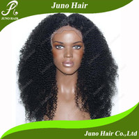 Wholesale Heat Resistant Fiber Afro Kinky Curly Wig Synthetic Lace Front Wig Long Fluffy Wigs For Black Women HW220126 Juno Hair