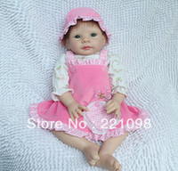 Cheap TOP QUALITY 50cm 20 inch high Ultra simulation baby dolls reborn baby girl doll handmade toys as adora baby doll