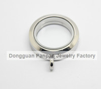 Wholesale Panpan mm silver glass locket designs living locket L Stainless steel round for floating locket charms