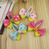 Cheap New Arrival Fashion Bow BB Children Hair Clip Flower Dot Design Cute Toddler Kids Hair Bows Fashion Accessories
