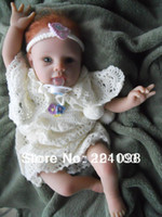"Cheap 55cm 22"" reborn baby girl doll high Ultra simulation lifelike baby dolls quality as adora baby doll for kids' gift"