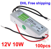 Wholesale Waterproof DC V W Electronic LED Strip Driver V Power Supply Adapter Transformer AC V V DHL