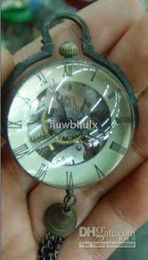 Wholesale crystal copper mechanical ball men watch clock work well