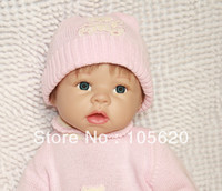 Cheap 22 inch Lifelike Reborn baby dolls Silicone vinyl doll Soft Toys for girls 100% handmade soft dolls girls gift