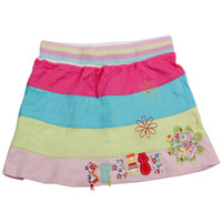 Cheap 18m-6y baby clothes mini skirts flower girl dress children cheap clothing tutu princess dress colorful stripes cute crochet costume