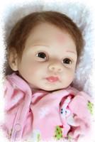 Cheap reborn baby girl dolls,Simulation baby doll,55cm
