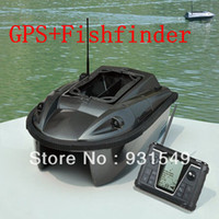 Wholesale Electronic Remote Control Baitboat With GPS Fish Finder RC fishing bait boat compass m