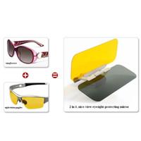 Cheap Car Anti-glare Goggle sunshade goggles auto sunglasses shield flip cover sun visor clip use Day and Night