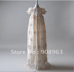 Wholesale Dupioni Silk In Ivory Gwyneth Christening Gown Set