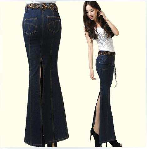 Skirts Womens 2014 High Waist Long Mermaid Maxi Skirt With Split ...