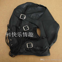 Wholesale New PU Leather Head Hoods Slave Head Masks Detachable Face Mask BDSM Bondage Pleasure Mask Sex Toys Adult Products