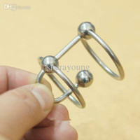 Double Ring Steel Urethral Penis Plugs Jewelry Male Chastity...