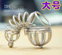 Male Chastity Cage  Male Chastity Devices Cock Cage Penis Restraints Cage Anti-Masturbation Gear with Urethral Catheter Tube Plug Sex Toys Adult Products