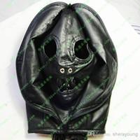 Sex Dual Use PU Leather BDSM Head Hoods Masks Slave Trainers...